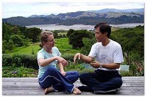 Gerlinde Laschalt und Master Lijunfeng